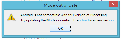 mode out of date