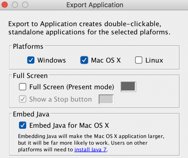 Export standalone with Java 8 - Processing 2 x and 3 x Forum