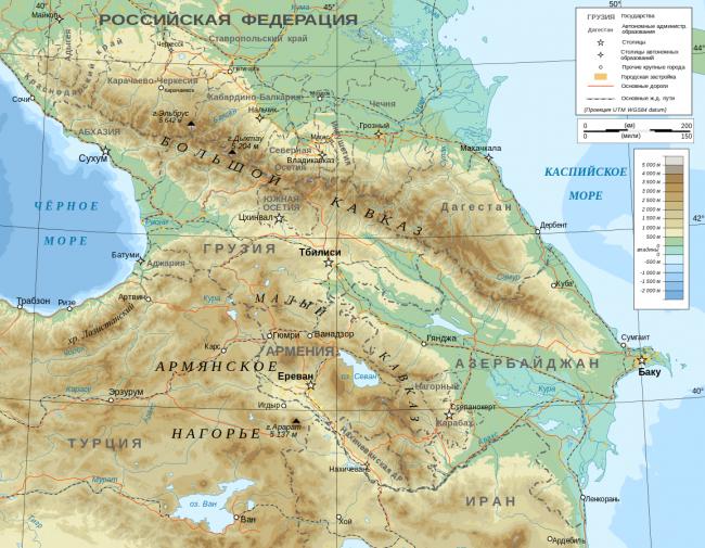 Caucasus_topographic_map-ru.svg