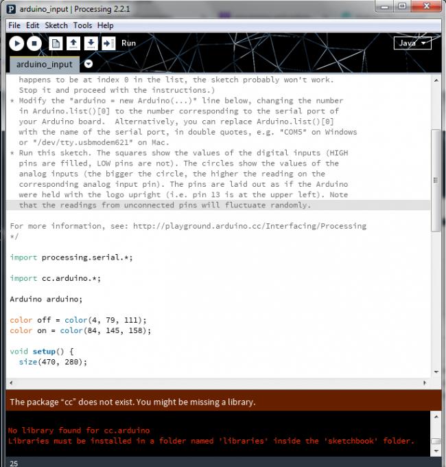 Sketch won t run due to non exixtant cc arduino library